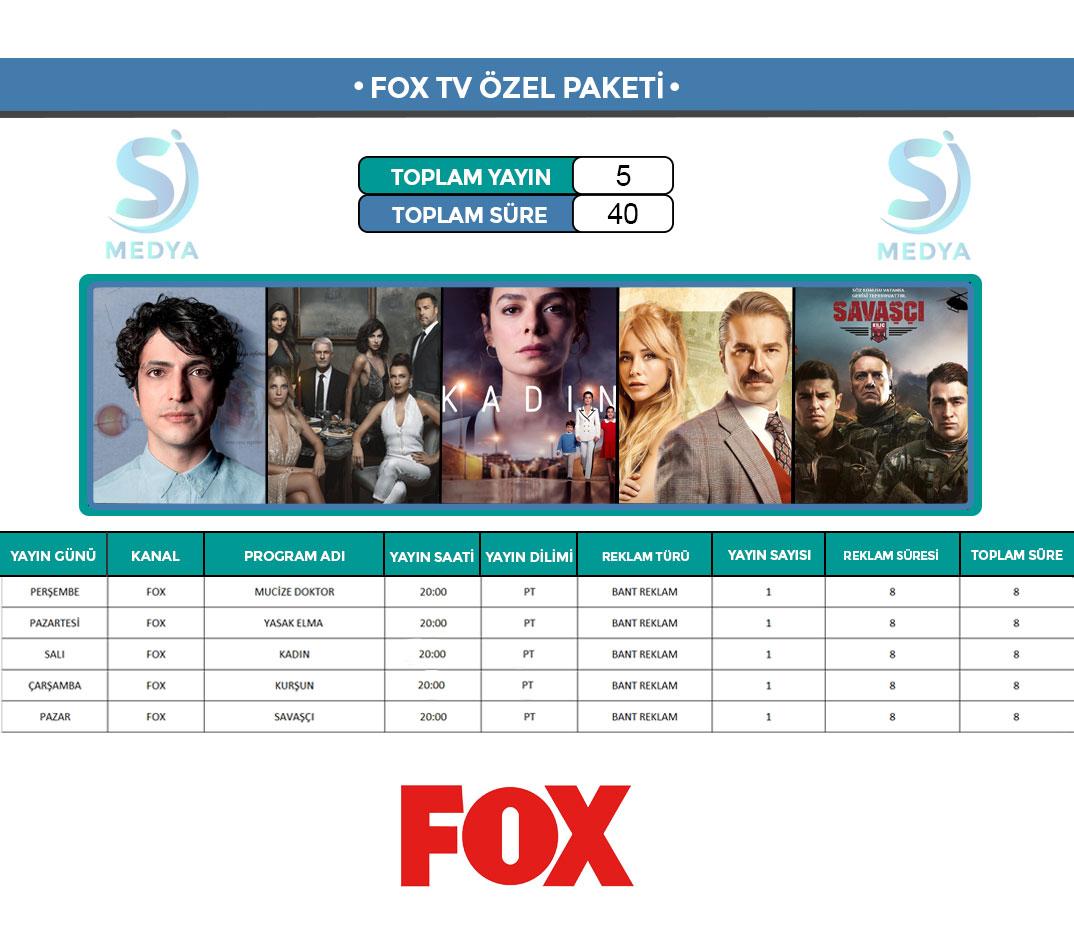 Fox TV Reklam Paketi
