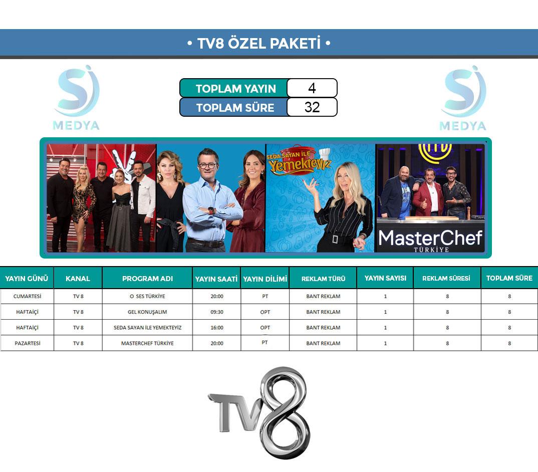 TV8 Reklam Paketi