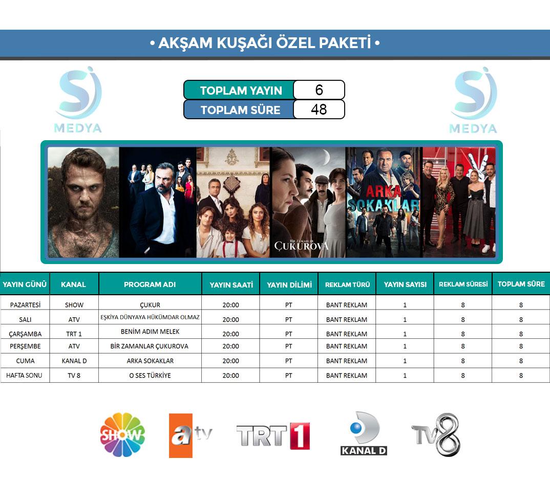 TV Reklam Paketi Akşam