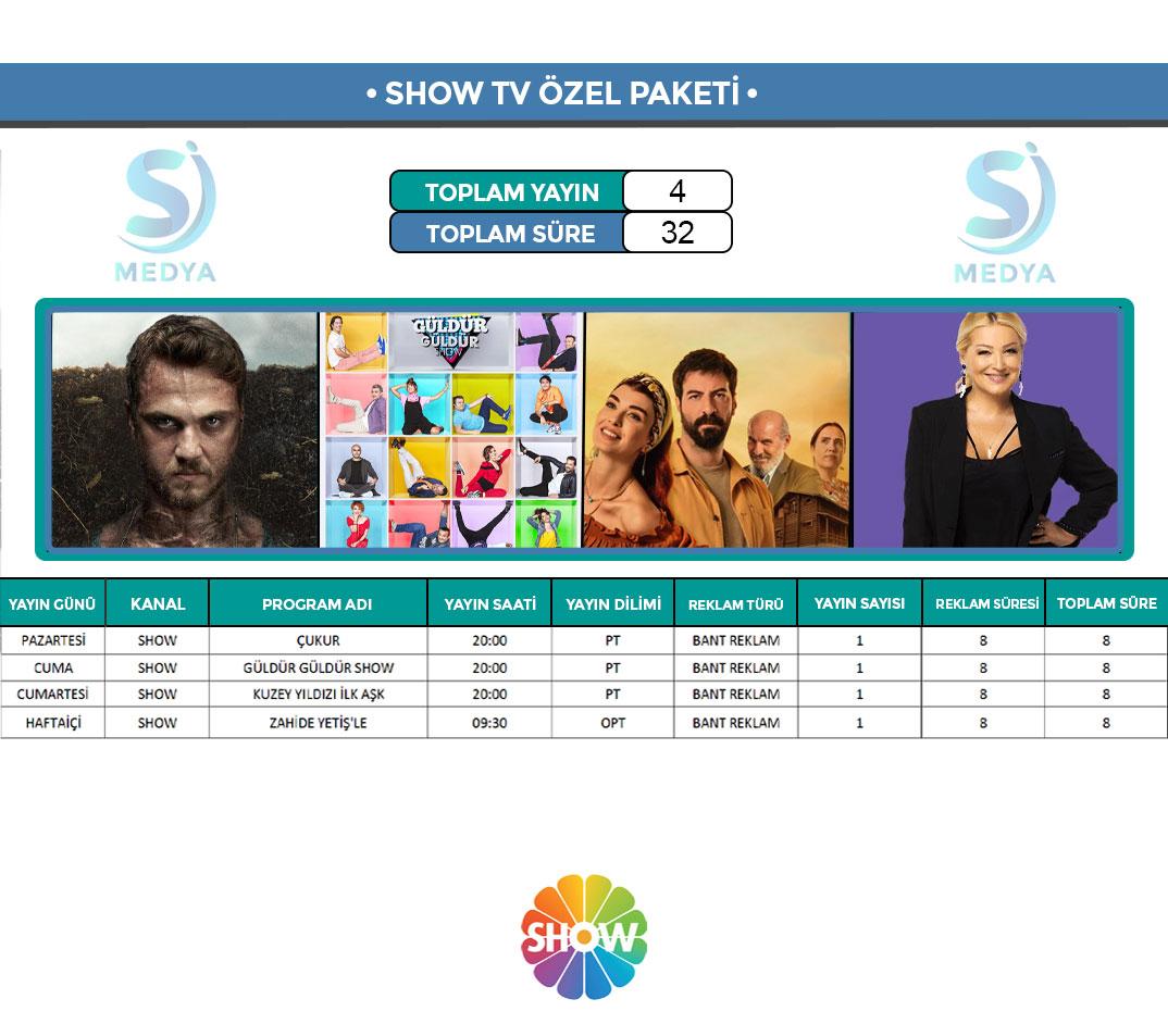 Show TV Reklam Paketi